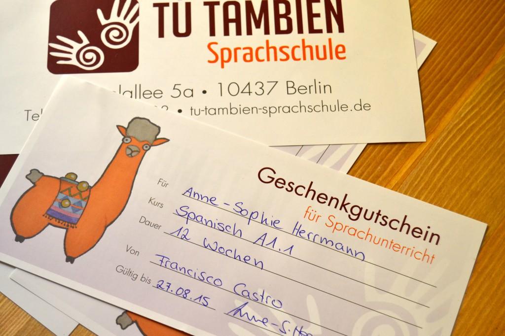 Sprachen lernen Gutscheine Berlin Tú También Sprachschule.1