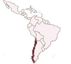 Karte Lateinamerika Chile spanisch lernen berlin